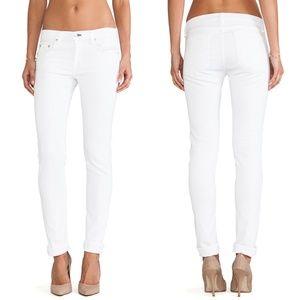 Rag & Bone/The Dre Aged Bright White Skinny Jeans